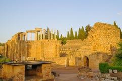 Roman Theater i Merida Arkivfoton