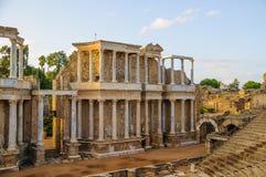 Roman Theater i Merida Royaltyfria Bilder