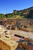 Roman Theater in Malaga, Spanje royalty-vrije stock afbeeldingen