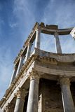 Roman Theater of Merida, Spain, 1st century BC. In a splendid day with blue sky royalty free stock images
