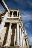 Roman Theater of Merida, Spain, 1st century BC. In a splendid day with blue sky stock photo