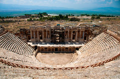 Roman Theater in Pamukkale, the ancient city of Hierapolis Turkey, Stock Photos