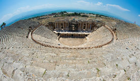 Roman Theater in Pamukkale, the ancient city of Hierapolis Turkey, Stock Images
