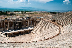 Roman Theater in Pamukkale, the ancient city of Hierapolis Turkey, Stock Photography