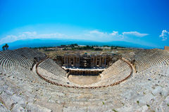 Roman Theater in Pamukkale, the ancient city of Hierapolis Turkey, Stock Image