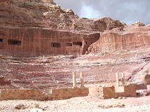 Roman Theater in Petra Royalty Free Stock Photography
