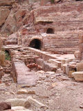 Roman Theater in Petra Stock Photo