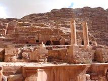 Roman Theater in Petra Royalty-vrije Stock Fotografie
