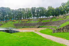 The roman theater remains in Autun. Burgundy, France Stock Photography