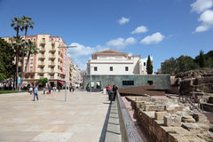 Roman Theater Ruin in Malaga, Spain Royalty Free Stock Images