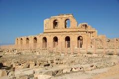 Roman theater in sabratha, Libië Royalty-vrije Stock Fotografie