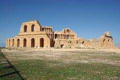 Roman theater in Sabratha, Libië Royalty-vrije Stock Foto