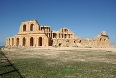 Roman theater in Sabratha, Libya Royalty Free Stock Photo
