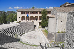 Roman Theater. Spoleto. Umbria. Stock Photo