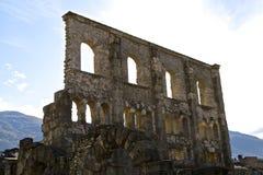 Roman theater/Teatro-Romano - Aosta Stock Afbeelding
