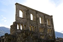 Roman theater / Teatro Romano - Aosta. Roman theater - Aosta Italy Stock Image