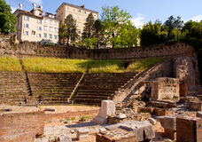 Roman Theater in Trieste stock photography
