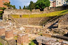 Roman Theater in Trieste Royalty Free Stock Photo