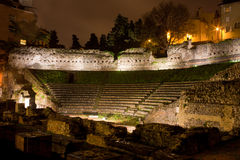 Roman Theater in Trieste, Italy Stock Image