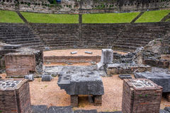 Roman Theater in Trieste Stock Photos
