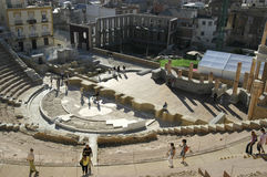 Roman theater van Cartagena Stock Fotografie