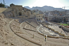 Roman theater van Cartagena Stock Foto's