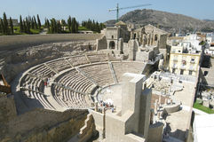 Roman theater van Cartagena, Spanje Royalty-vrije Stock Foto
