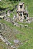 Roman Theater in Volterra Stock Photo