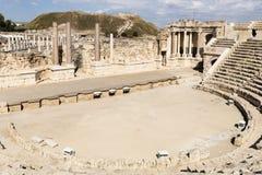 Roman Theater von Bet She-`, Israel Lizenzfreie Stockfotos