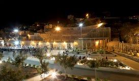 Roman Theatre à Amman (la nuit), Jordanie Image libre de droits