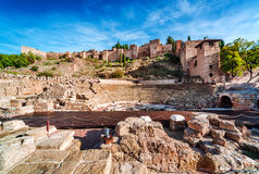 Roman Theatre Royaltyfria Foton