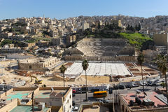 Roman Theatre in Amman Stock Photography