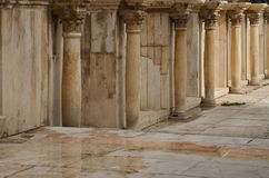Roman Theatre, Amman. A wall and columns inside the Roman Theatre in Amman Stock Images