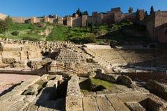 Roman Theatre antiguo en Málaga Foto de archivo libre de regalías