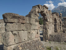 Roman Theatre Aosta Royalty Free Stock Images