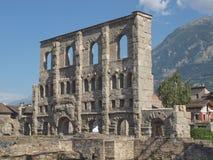 Roman Theatre Aosta Fotografie Stock
