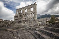 Roman Theatre Aosta, Italien Royaltyfri Fotografi