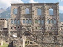 Roman Theatre Aosta Stock Image