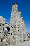 Roman Theatre of Aosta. Ruins of the Roman Theatre of Aosta - A.D. 25 BC Stock Photo