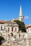 Roman Theatre av Arles Arkivfoto