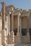 Roman theatre in Caesarea - Israel stock photo
