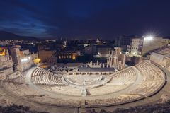 Roman Theatre in Cartagena stock photography