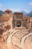 Roman theatre in Cartagena, Spain with people Stock Photo