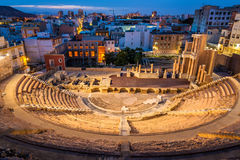 The Roman Theatre in Cartagena, Spain. View of the Roman Theatre in Cartagena - Spain stock image