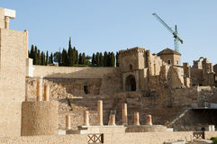 Roman Theatre - Cartagena - Spanien Arkivbild