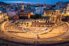 Roman Theatre in Cartagena, Spanje stock afbeelding