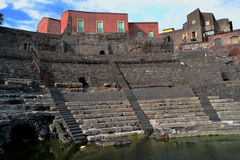 Roman Theatre of Catania Royalty Free Stock Photo