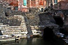 Roman Theatre of Catania Stock Photos