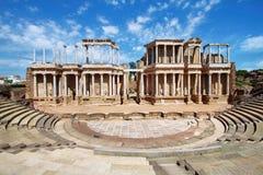 Roman Theatre (den Teatro romanoen) på Merida royaltyfri bild