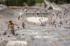 Roman Theatre em Ephesus em Turquia Fotografia de Stock